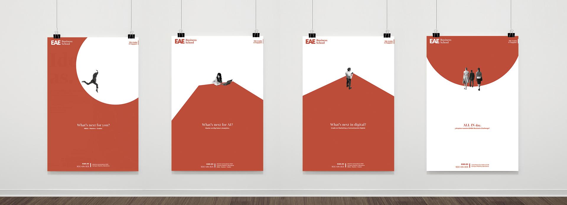 El diseño gráfico hecho call to action de EAE