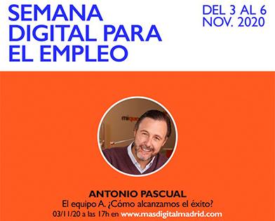 Antonio Pascual Ridruejo, CEO de Mi Querido Watson, hablará el día 3 sobre la experiencia de trabajar en remoto